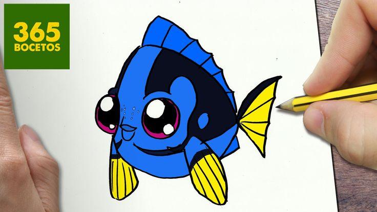 COMO DIBUJAR DORY KAWAII PASO A Dibujos Kawaii Faciles How To