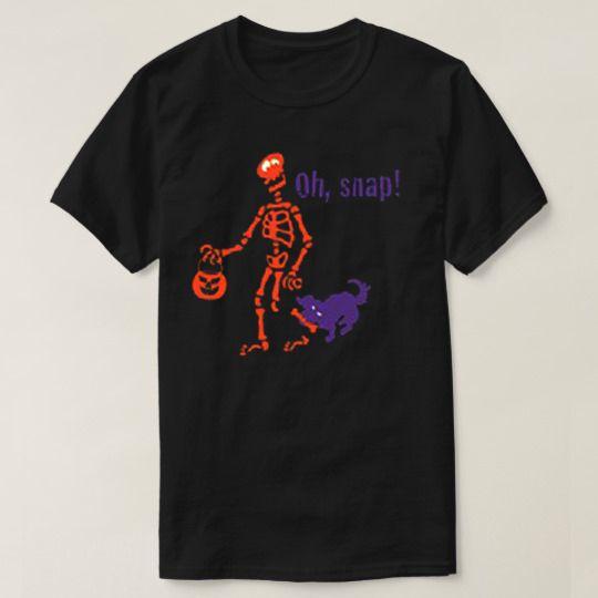 Oh Snap Skull Halloween Custom Shirts