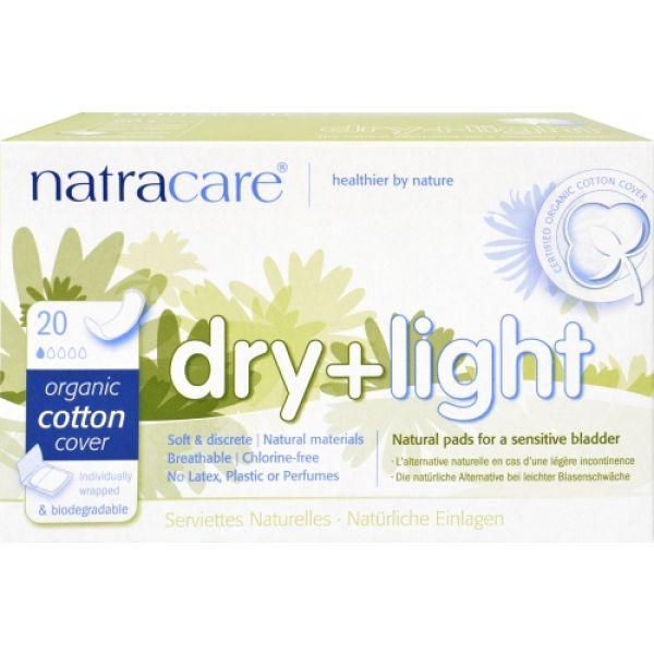 Absorbante bio Natracare pentru incontinenta urinara, Natracare disponibile pentru comanda online.