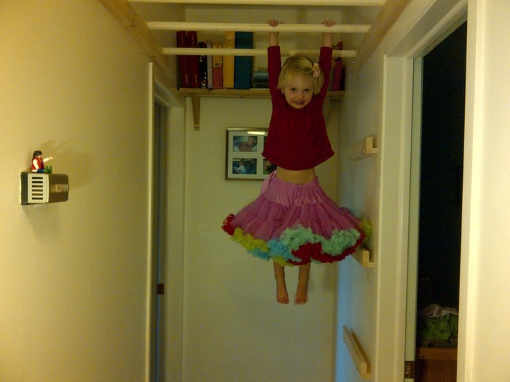 Down The Hallway Monkey Bars With Wall Mounted Climbing