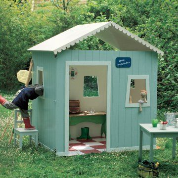 Cabane pour enfant en bois avec toit qui se plie pour se ranger - tuto marie claire idees