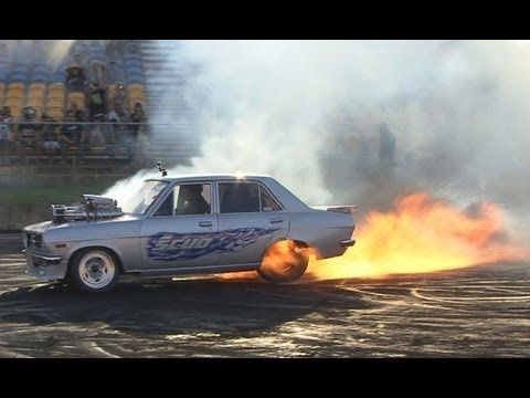 There was action a plenty at Burnout Mayhem, plenty of flames and blow ups, SKUD was antoher example of a monster tip in followed by a long long flame fest!    http://www.modifiedcarforums.com