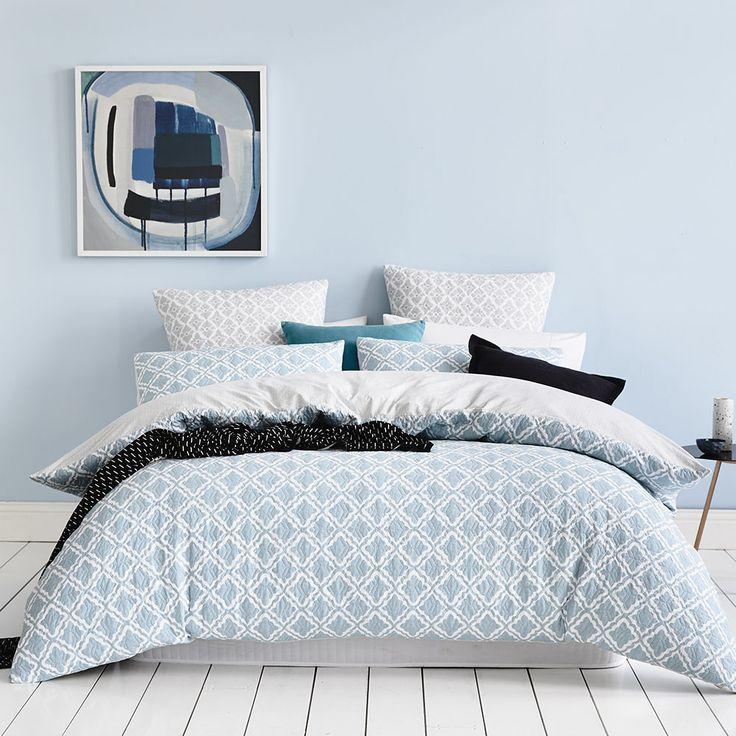 Mercer + Reid Danube Quilted Bedlinen - Bedroom Quilt Covers & Coverlets - Adairs online