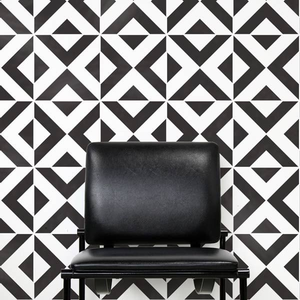 All The Angles Moroccan Wall Stencil from Royal Design Studio