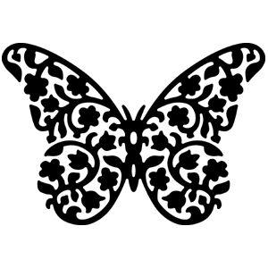 Estampa de borboleta para desenhar