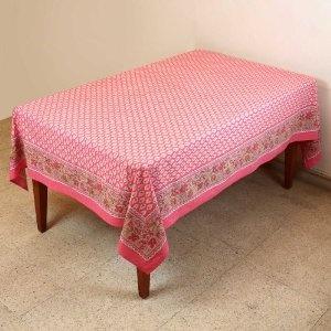 Primavera decoración mesa Floral algodón indio mantel Rectangular 152 X 228: Amazon.es: Hogar