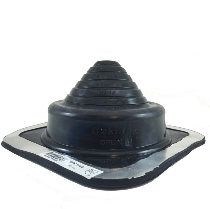 DEKTITE SQUARE PIPE FLASHING BOOT: 3 Black EPDM Pipe Flashing Dektite (OD pipe size 2? to 4-3/4?) ~ Roof Jack Pipe Boot is on-site adjustable ~ pipe flashing attaches easily with roofing screws ~ By Deks Dektite >>> You can find out more details at the link of the image.