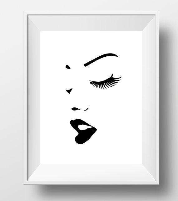 Makeup print, makeup art, fashion print, beauty print, lipstick print, makeup…