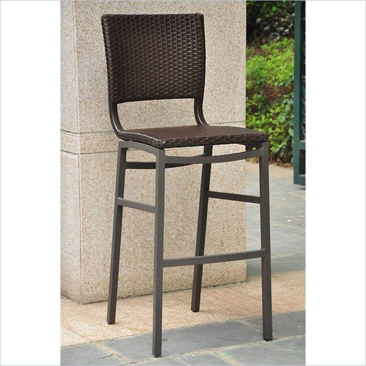 barcelona resin barheight patio bar stool set of 2