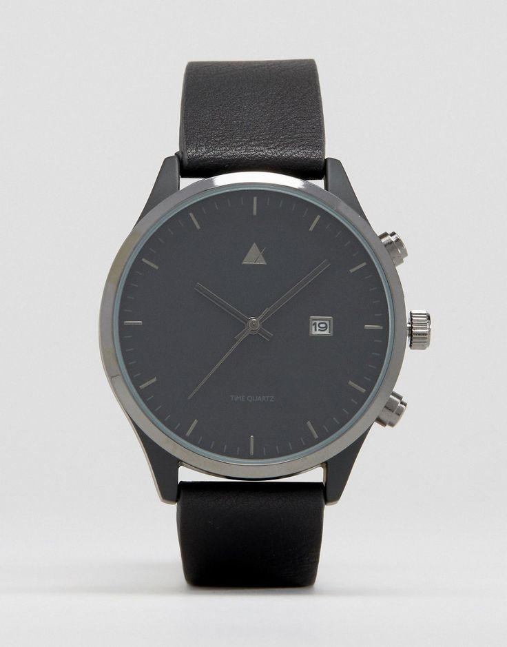 Изображение 1 из Черные часы с окошком с датой ASOS