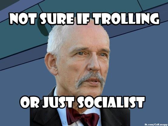 not sure if trolling #korwin