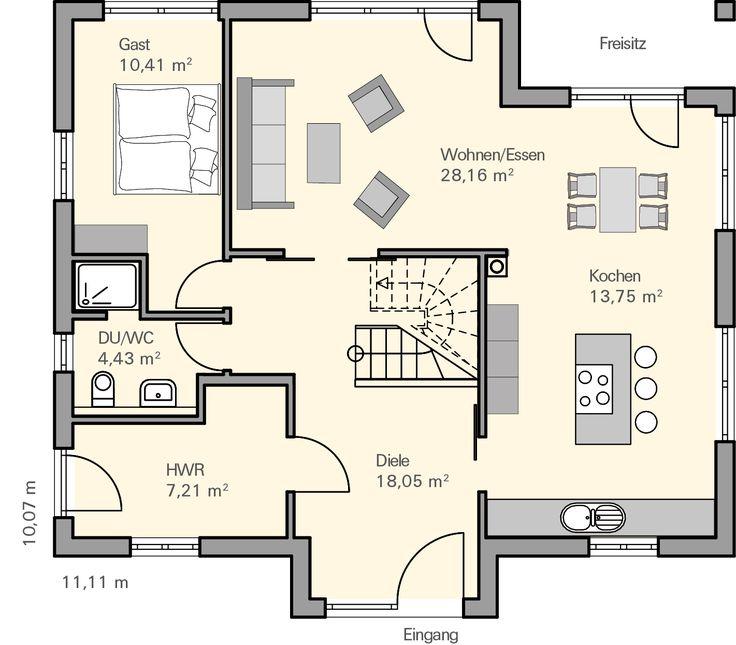 19 besten grundrisse bilder auf pinterest grundriss for Hausplanung grundriss