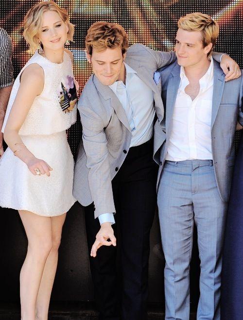 Jennifer Lawrence, Sam Claflin and Josh Hurcherson