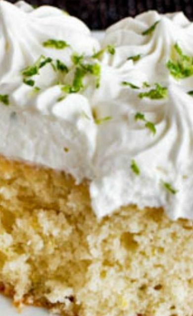 Lemon Lime Cake with Fresh Lime Whipped Cream