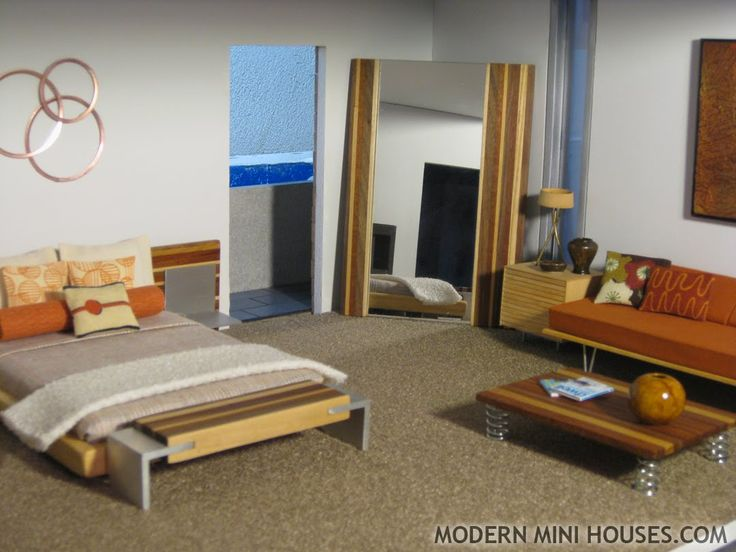 206 Best Images About Mid Century Doll House On Pinterest