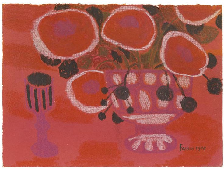 Mary Fedden | Still Life with Glass and Flowers