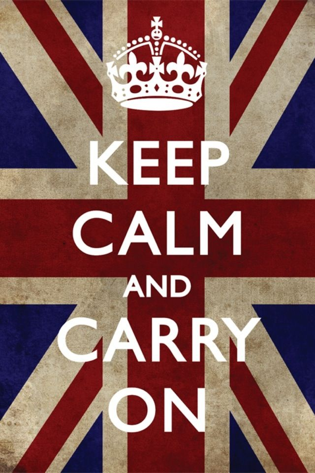 Keep calm and carry on!!!
