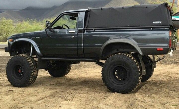 First Gen Dark Grey Toyota Pick-Up Truck