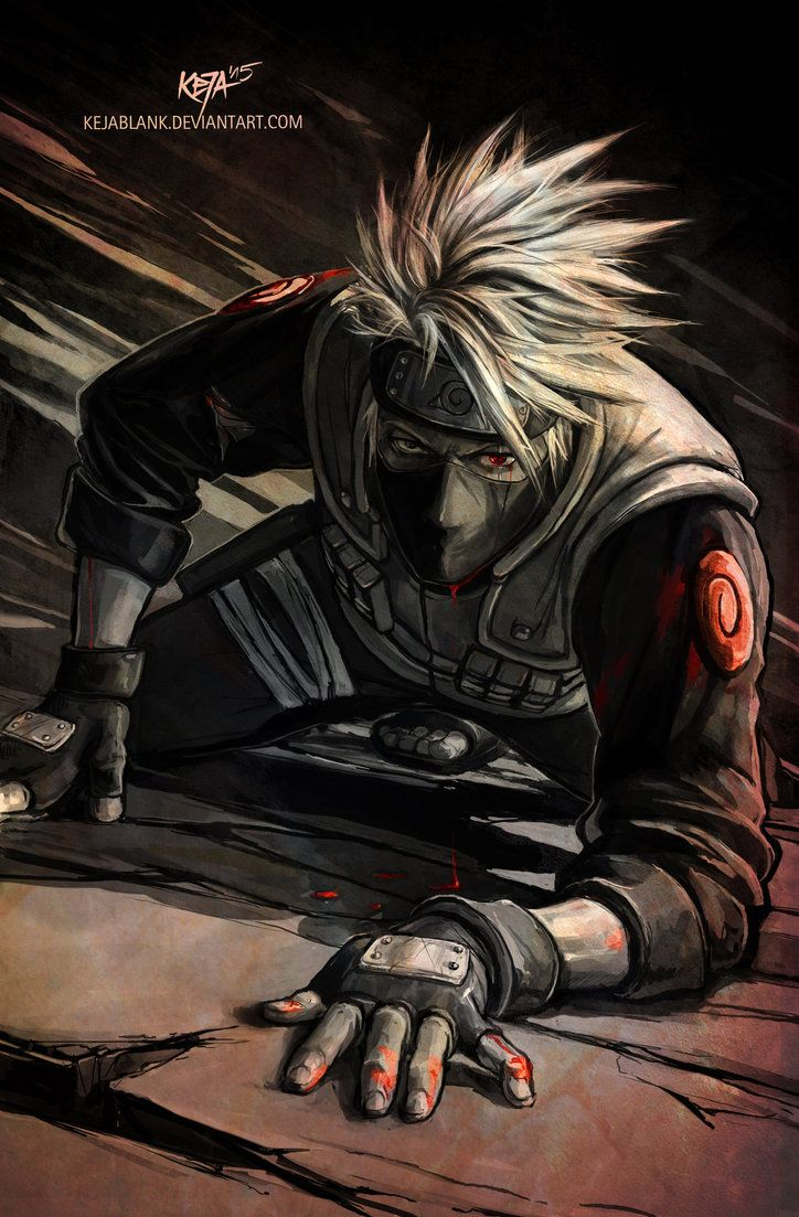 Artworks with Hatake Kakashi can be: -Cute -Embarassing -Funny -Heroic -Romantic -Serious This one is a very serious one: Kakashi Sensei fight to the death. I love this serious gaze ... sigh ... I ...