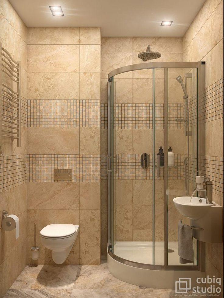 Fürdőszoba - meleg színárnyalatok, zuhanykabin