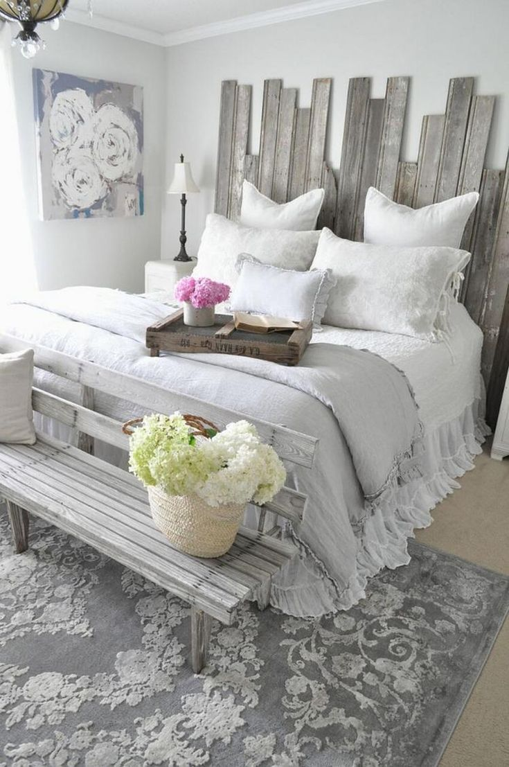 35 Cozy Farmhouse Master Bedroom Decorating Ideas Master Bedrooms Decor Rustic Shabby Chic Bedroom Home Decor Bedroom