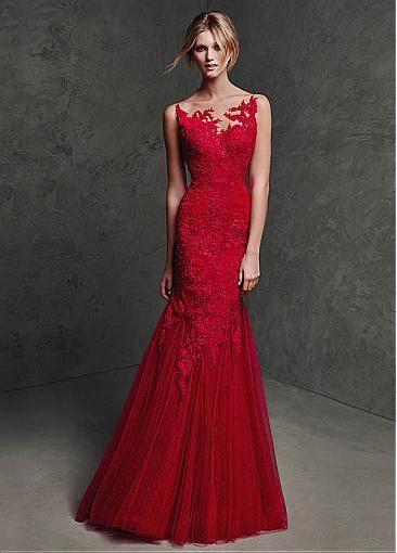 Gorgeous Polka Dot Tulle & Stretch Satin Spaghetti Straps Neckline Mermaid Formal Dresses
