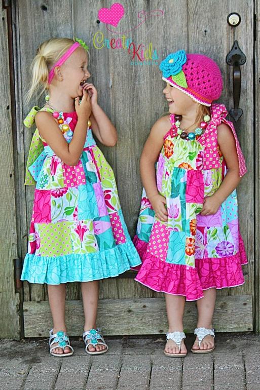 Patchwork Pillowcase Dress Pattern Pillowcase Dress