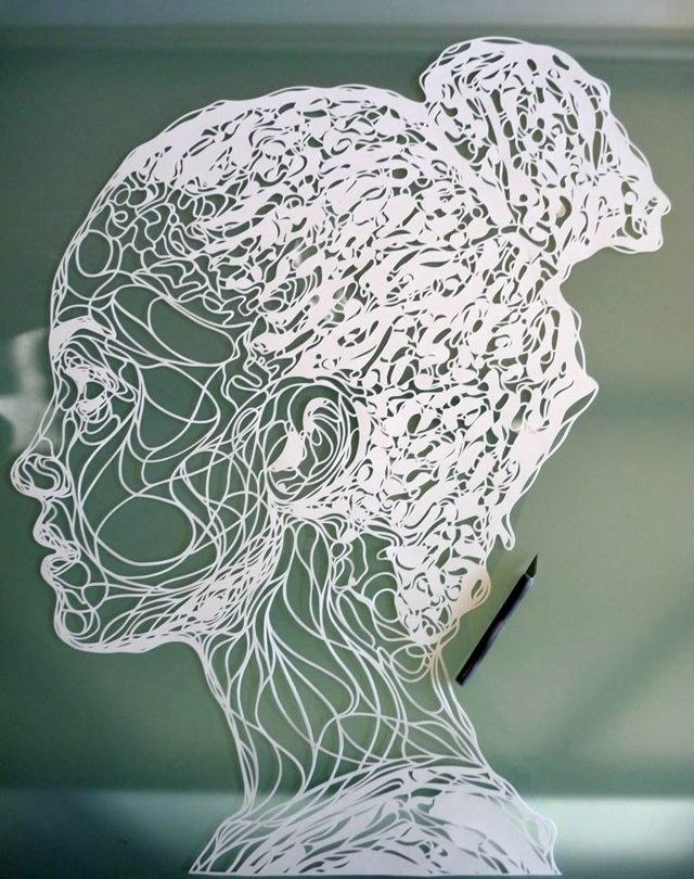 paper cut portrait by Kris Trappeniers
