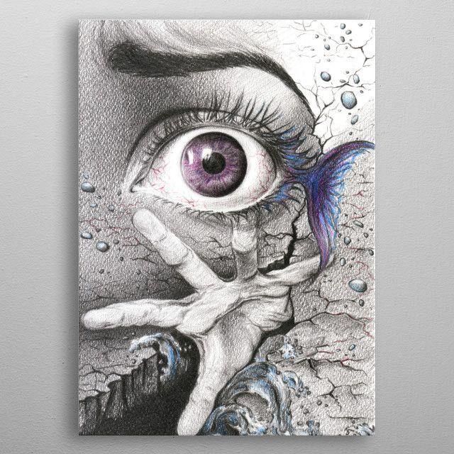 Learn To Swim Fantasy Poster Print Metal Posters Pencil