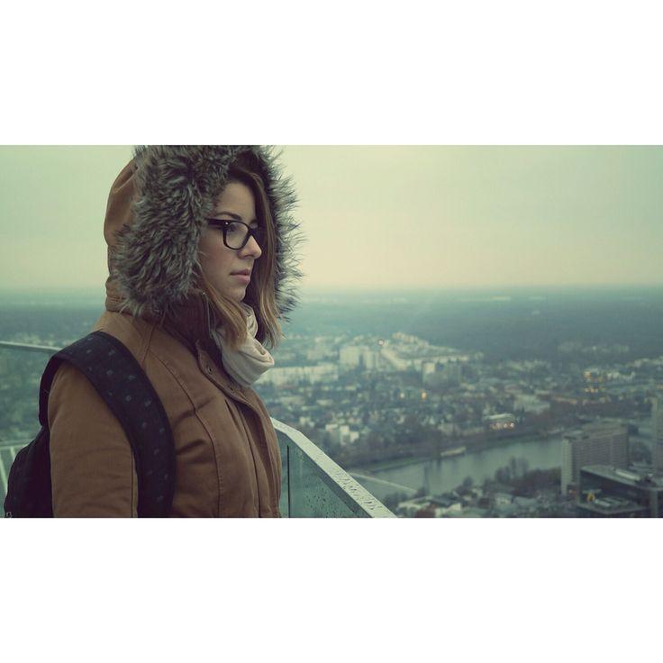 #cold #frankfurt #blue #view #winter
