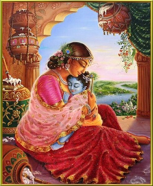 Yashoda (Sanskrit: यशोदा) was wife of Nanda within the Puranic texts of Hinduism. Within the Bhagavata Purana it is described that Yasoda later became the foster-mother to Krishna, who was born to Devaki but was given to Yashoda and Nanda in Gokul, by Krishna's father Vasudeva on the night of his birth, for his protection from Devaki's brother, the king of Mathura, Kansa.