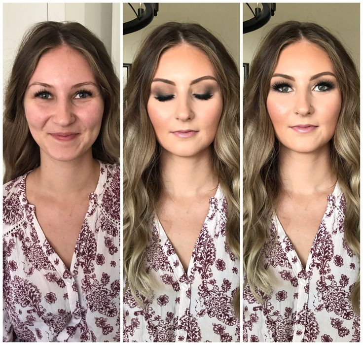 Bridesmaid before & after makeup by ashleigh #makeupbyashleigh