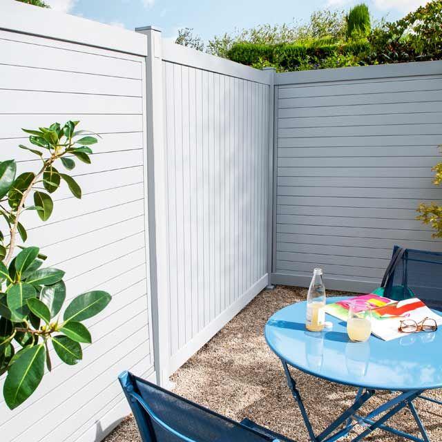 elegant simple brise vue terrasse ma terrasse panneau terrasse by panneau en pvc cameia x cm. Black Bedroom Furniture Sets. Home Design Ideas