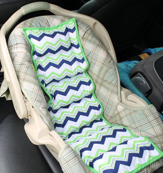 Car seat Cooler Boys or Girls Chevron  Lime and by TrendeeTots, $30.00
