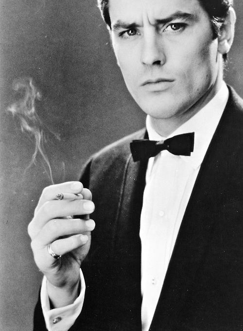 Alain Delon born November 8, 1935 in Sceaux, Hauts-de-Seine, France. He reminds me of a combo of Tom Cruise and Pierce Brosnan.