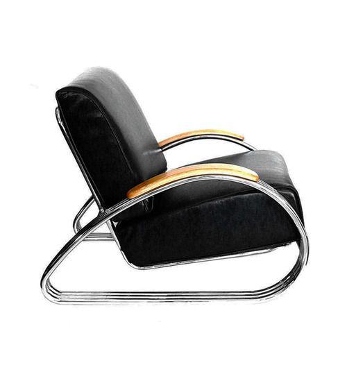 KEM Weber, streamline chair, 1930s. Chromed steel. For Lloyd's, USA.