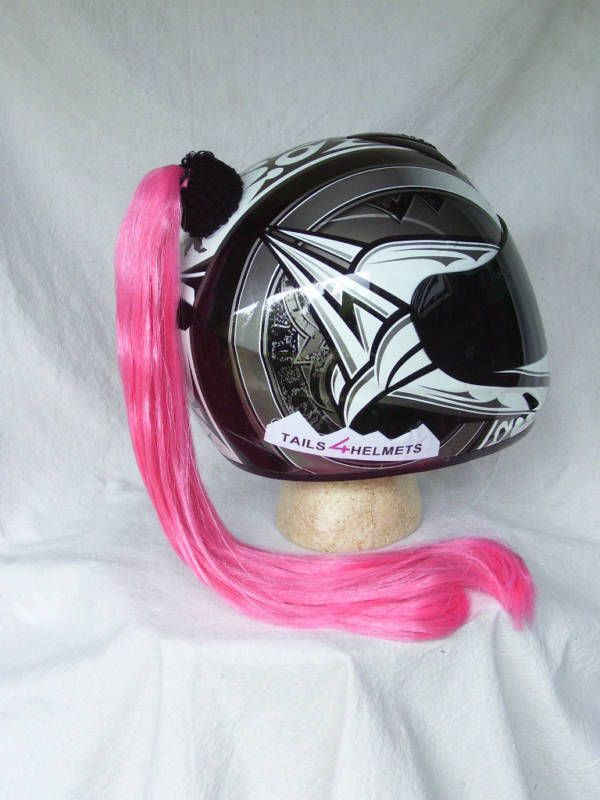 Womens Motorcycle Helmet With Pink Ponytail  1000X1000 -3480