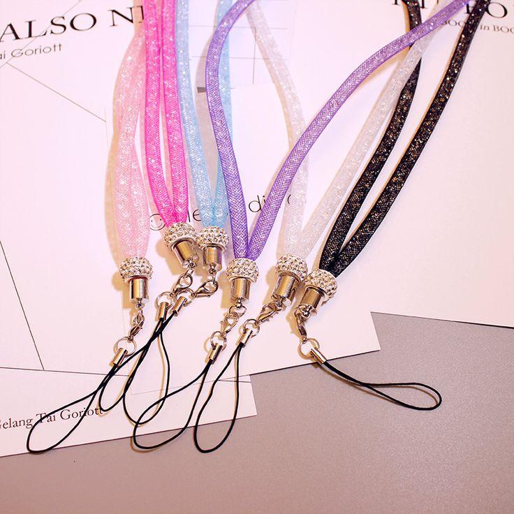 The New Mobile Phone Lanyard Luxury Neck Hanging Rope Belt Sling Rope Key Chain Lanyard Badge Holder Lanyard