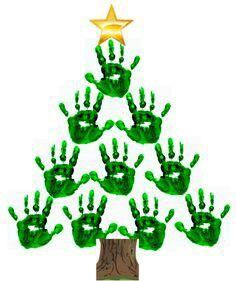 Kerstboom handjes