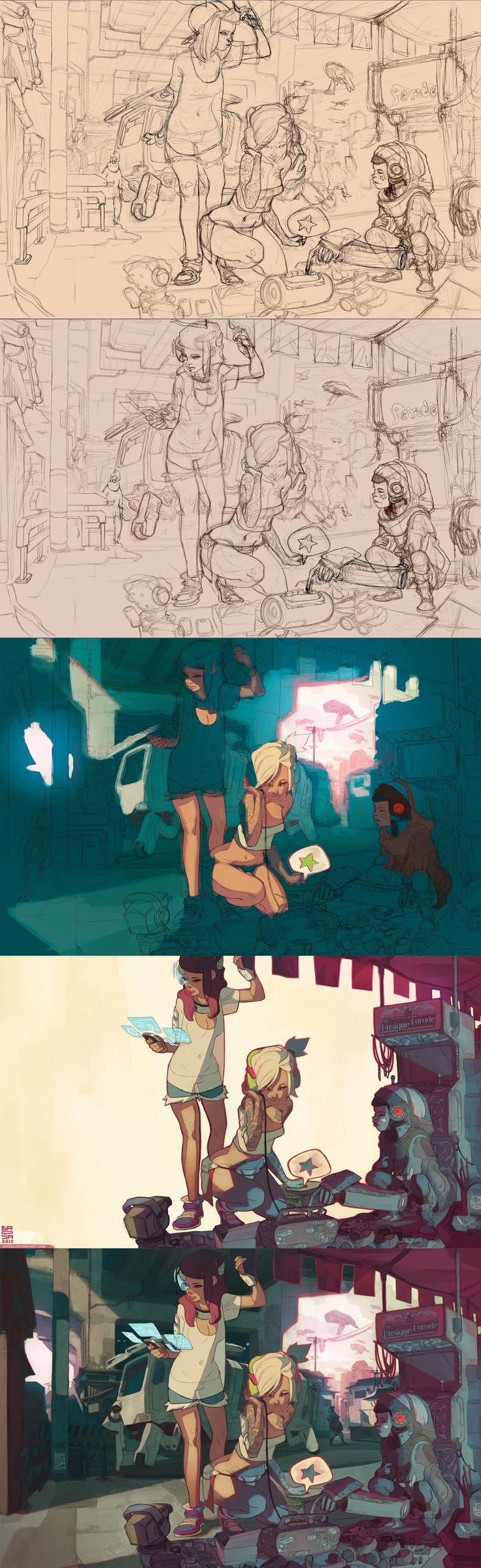 illustration steps