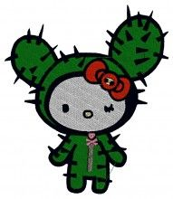 Cactus Kitty embroidery design - Machine Embroidery Designs