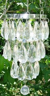 Glamping Crystal Tent Chandelier. Battery Operated! Auto shutoff. Totally Brilliant!