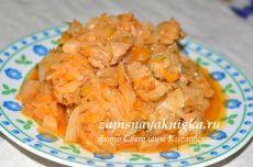 Тушеная капуста с мясом в мультиварке рецепт