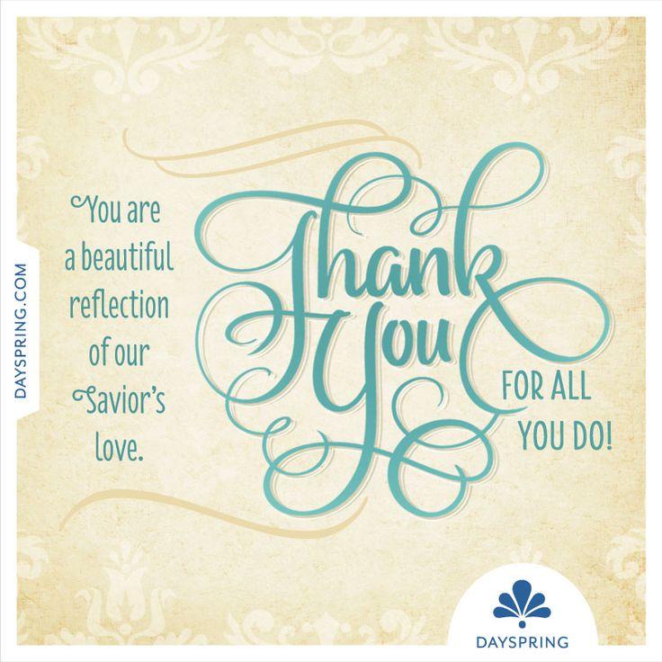 thank you beautiful reflection       dayspring