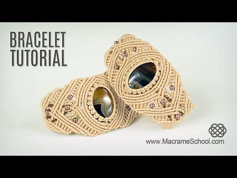 Macrame Bracelet with Stone - Tutorial in Vintage Style - YouTube