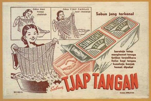 Iklan Sabun Sunlight (Dicetak Sekitar Tahun 50an)