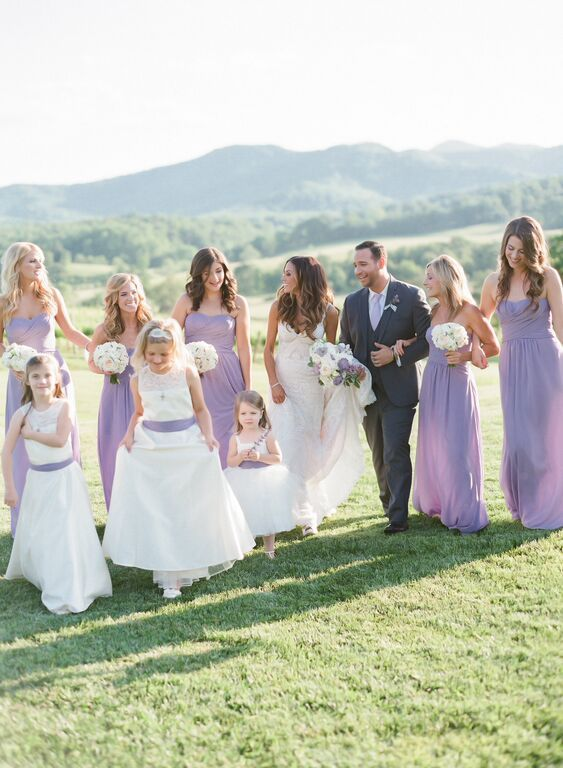 I did makeup for all the bridesmaids for the beautiful Jana Kramer wedding!  The wedding took place at Pippin Hill, a popular wedding venue.  Jana Kramer's bridesmaids are wearing french lilac dresses from Weddington Way.