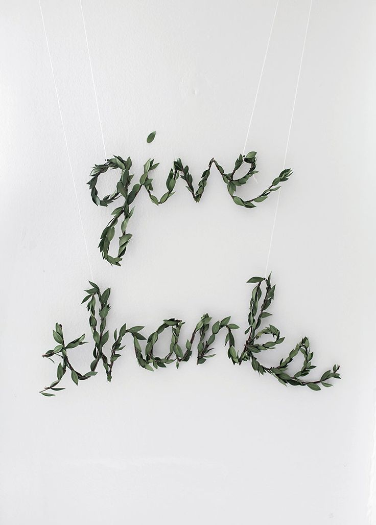 thanksgiving greenery garland diy