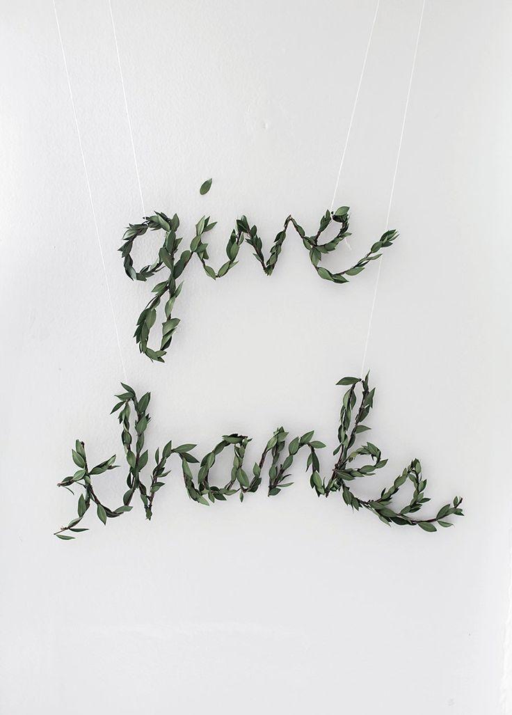 thanksgiving greenery garland diy