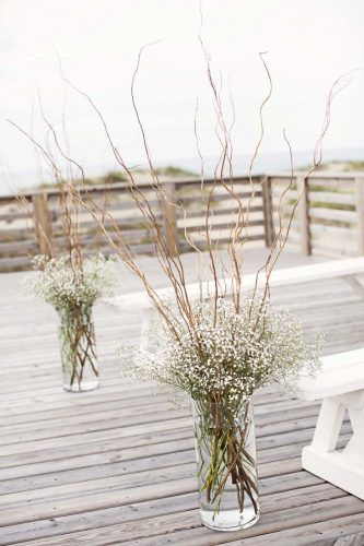 Curly Willow Branch Wedding Centerpiece | Curious Country Creations Crafty Life